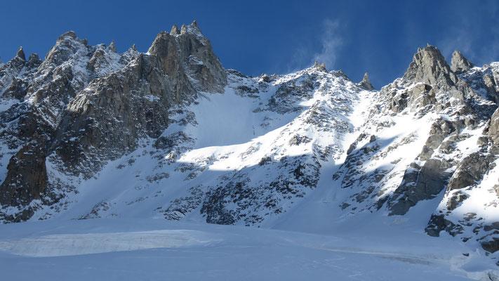 La pente nord-est du Col des Cristaux, Chamonix