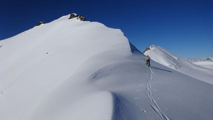 Direction le sommet du Lamet (Roche Michel)