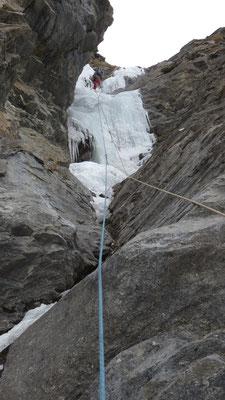 Cascade de la Coëlle, ligne de droite, ambiance goulotte, Bessans