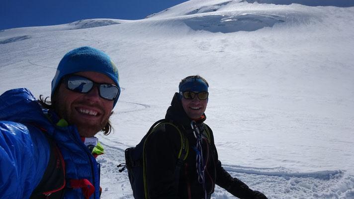 Tout bon sur le glacier Supérieur du Vallonnet, Albaron