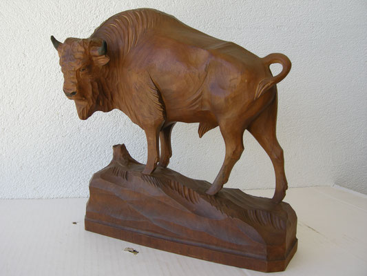Bisonskulptur