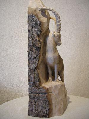 Steinbock Holzfigur