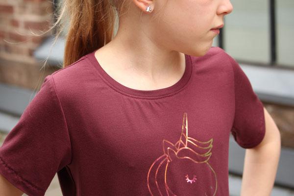 Kurzarm-Herbula-Shirt mit Plott, von @kroschkarama