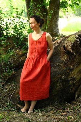 langes Acacia-Kleid mit Biesen, von @happy.fabrics