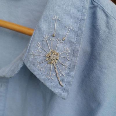 ... Pusteblume auf Blusenkragen, von @ella.at.work