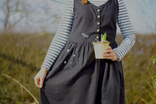 """... besticktes """"Kleid Acacia"""" von @nins_heartmade"""