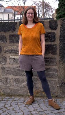 Leinen-Shorts mit Ziernähten, genäht von @ringellaus