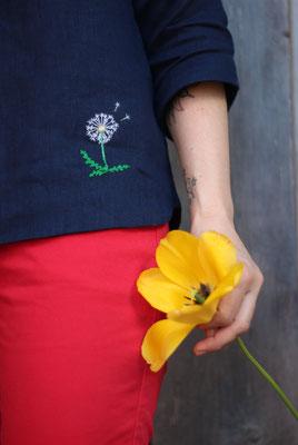 "... Pusteblume auf ""Bluse ROBINIA"", von @nins_heartmade"