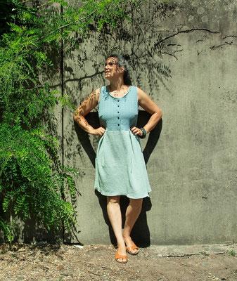 Kleid aus Musselin, von @spielraum.cologne
