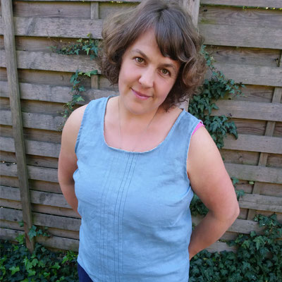 Leinen-Bluse mit Biesen von @kamajelat