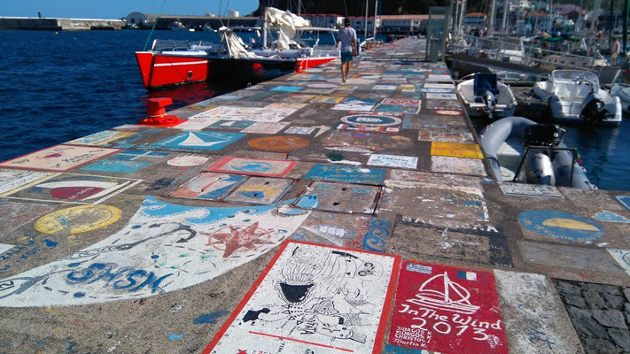 the wall Horta, Azores Yacht Delivery