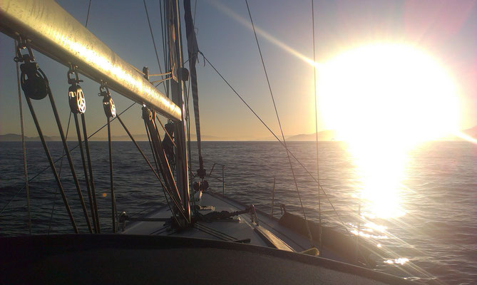 Yacht delivery work approaching Biscay