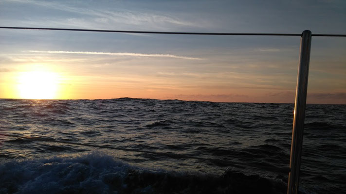 Atlantic sunset, yacht delivery service