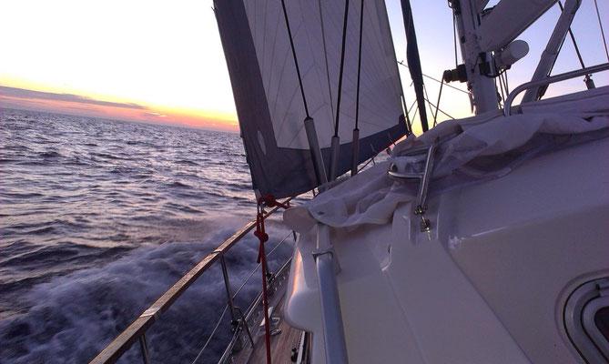 close hauled between Sardinia & Italy