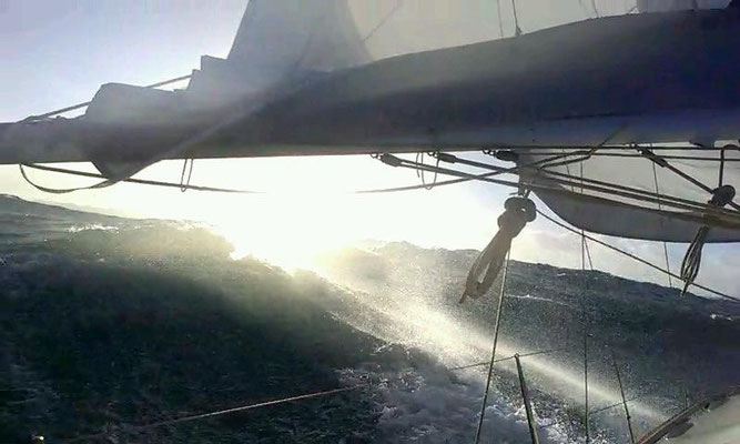 heavy weather yacht delivery