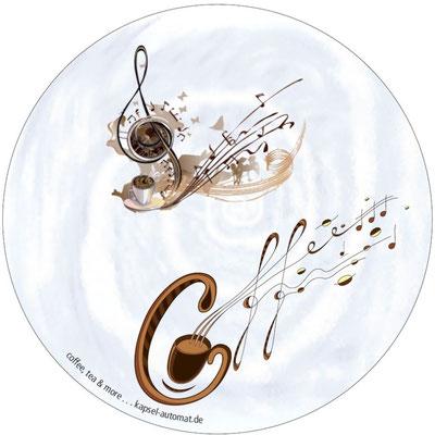 Aufkleber Music, Kaffeekapsel-Automat
