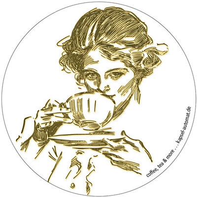 Aufkleber Historic White, Kaffeekapsel-Automat