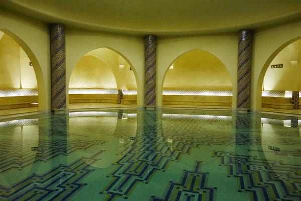 La mosquée Hassan II - Sympa le hammam !!