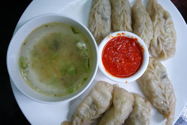 Momos - Sortes de raviolis cuits à la vapeur