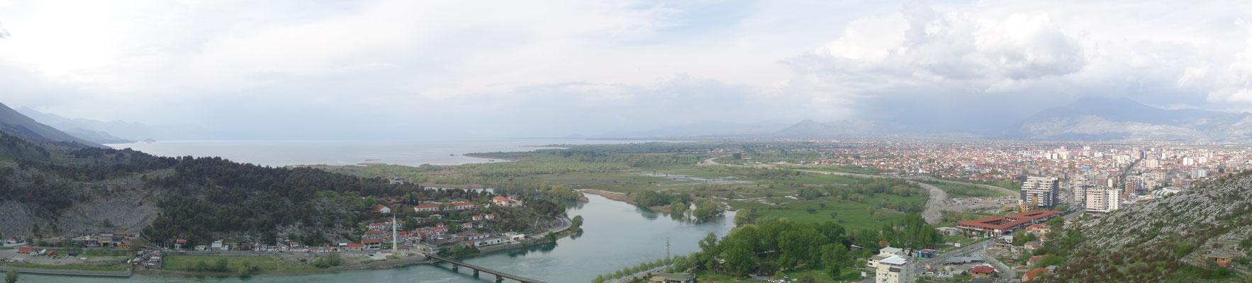 Vue depuis le château de Shkodra