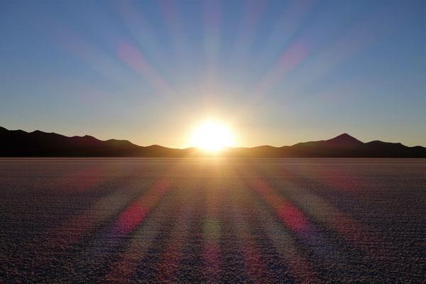 Salar d'Uyuni - Coucher du soleil
