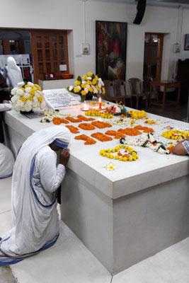 La tombe de Sainte Teresa de Calcutta