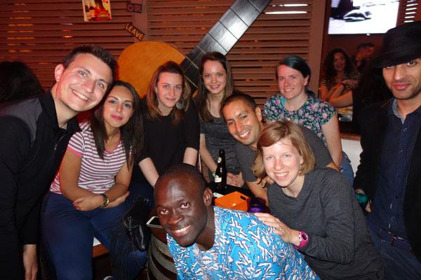 Avec Kebe et ses amis