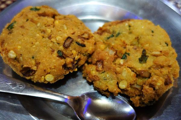 Le résultat dans l'assiette - Masala vada