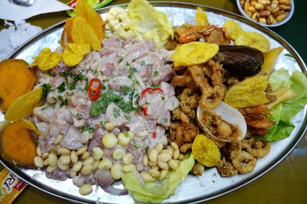 Ceviche & Chicharon = un délice !