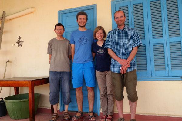 Avec Frère Stéphane et Frère Natale