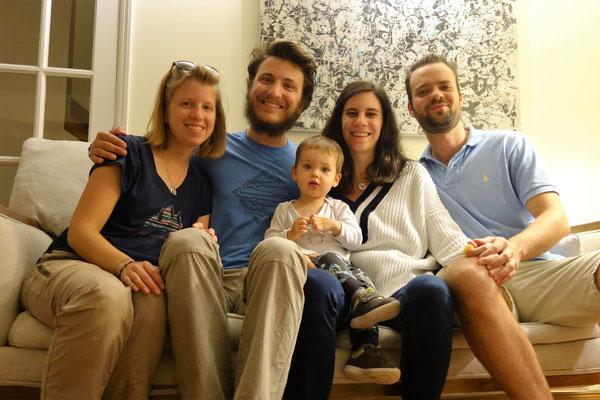 Avec nos hôtes Amaury, Marie et Alban !
