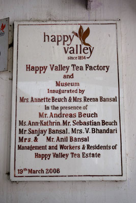 Plantation de thé Happy Valley (fournisseur de Harrod's)