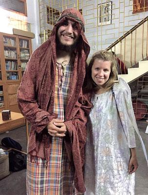 Spectacle de Noël : Etienne en Joseph et Inès en ange !