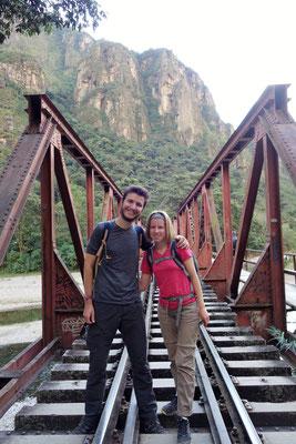 Randonnée le long de la voie ferrée, vers le Machu Picchu