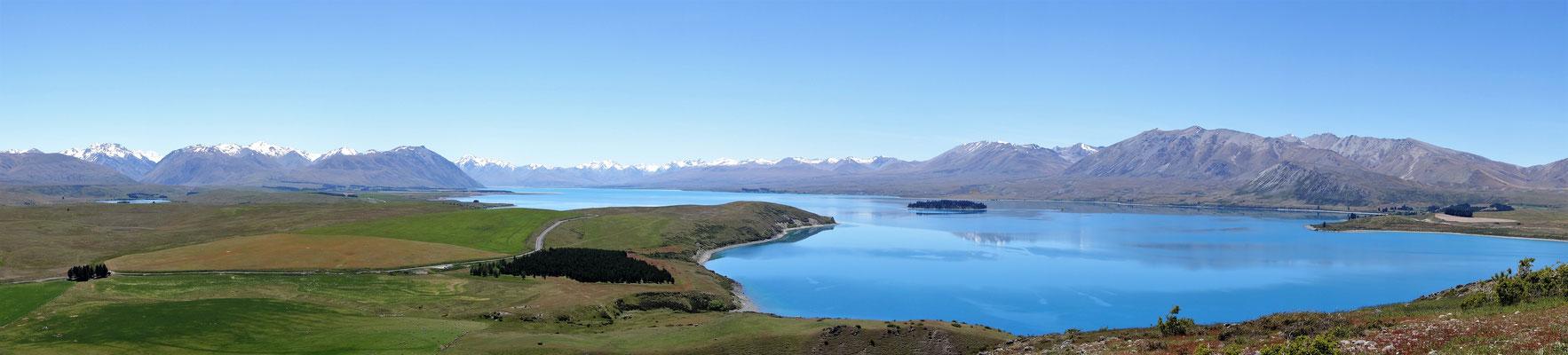 Lac Tekapo vu depuis Mount John