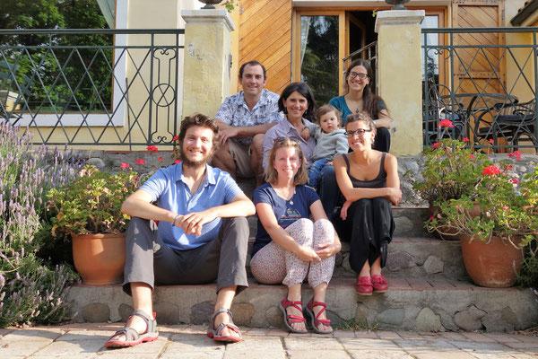 Avec les cousins chiliens d'Etienne :-)