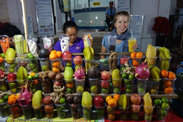 Les fruit-shakes laotiens : un régal !