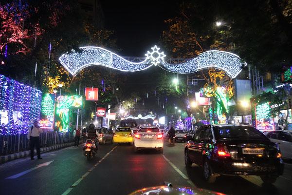 Calcutta au moment de Noël