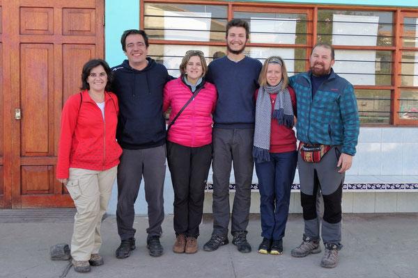 Avec les volontaires espagnols