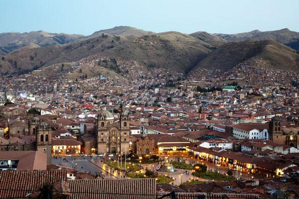Vue sur la Plaza de Armas depuis San Cristobal