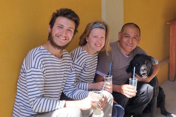 Avec le père Antonio et Brake