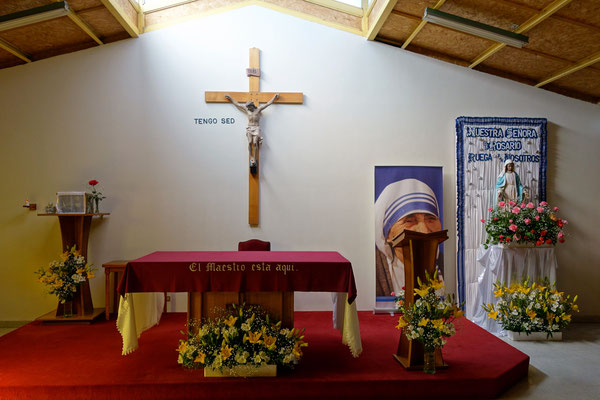 La chapelle des Missionnaires de la Charité
