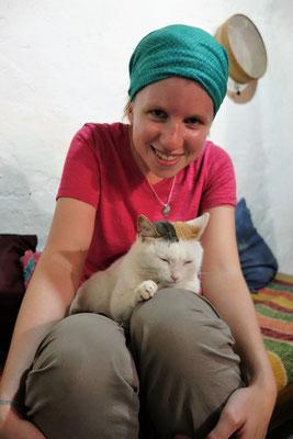 Visite chez les Sœurs Franciscaines de Tatihouine - Leur chat !