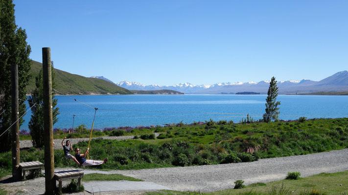 Tyroliennes au bord du Lac Tekapo !!!