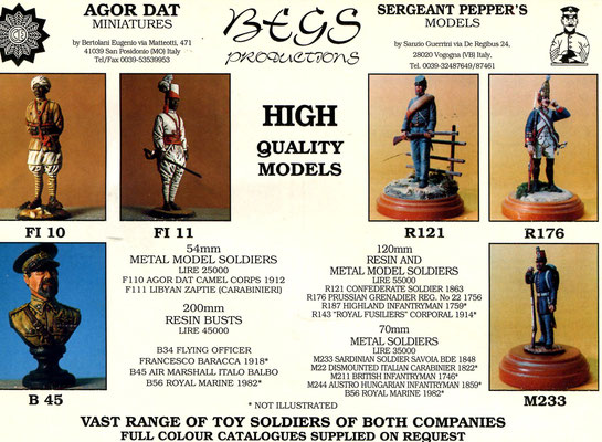 Begs Productions - Agor Dat - Sergeant Pepper's Models