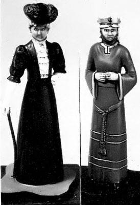 Callum Miniatures Lady with Cane 1906 ,  Noblewoman 12th century