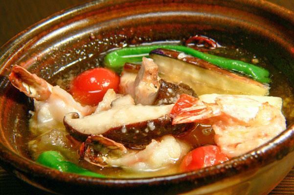 海老と野菜の和ヒージョ