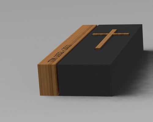 Ontwerp in Belgisch hardsteen en hout