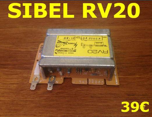 CARTE DE PUISSANCE LAVE-LINGE : SIBEL RV20
