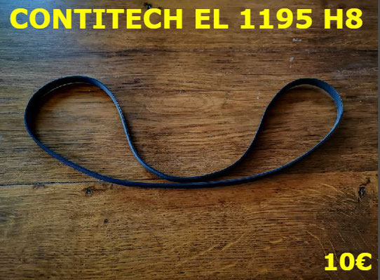 COURROIE LAVE-LINGE : CONTITECH EL1195H8